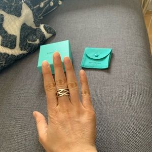 Tiffany & Co weave ring